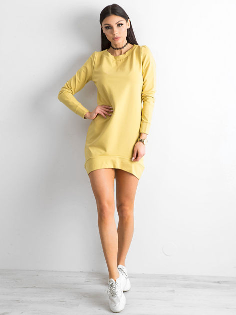 Ciemnożółta dresowa tunika basic                              zdj.                              4
