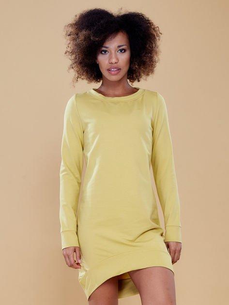 Ciemnożółta dresowa tunika basic                              zdj.                              8
