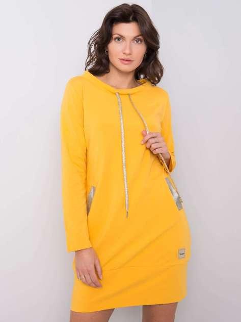 Ciemnożółta sukienka Holly
