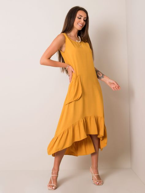 Ciemnożółta sukienka Serafine