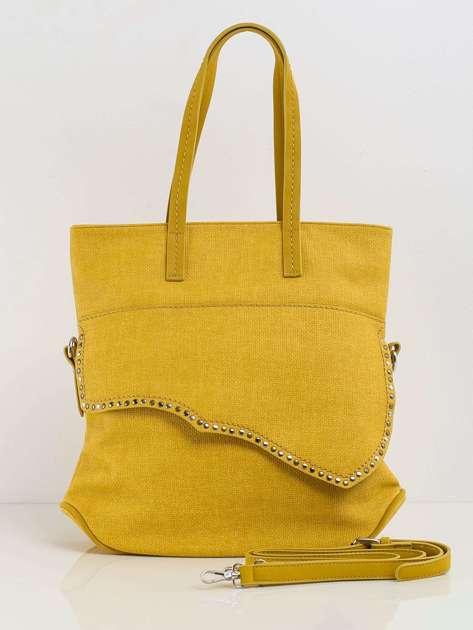 Ciemnożółta torba damska