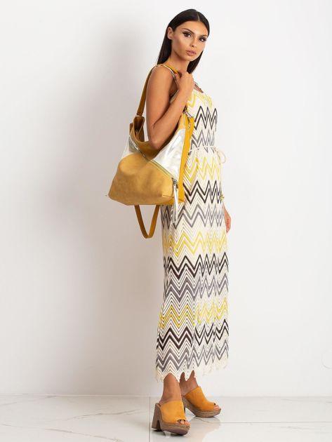 Ciemnożółta torba na ramię                              zdj.                              5