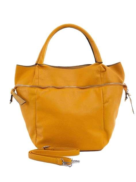 Ciemnożółta torba shopper