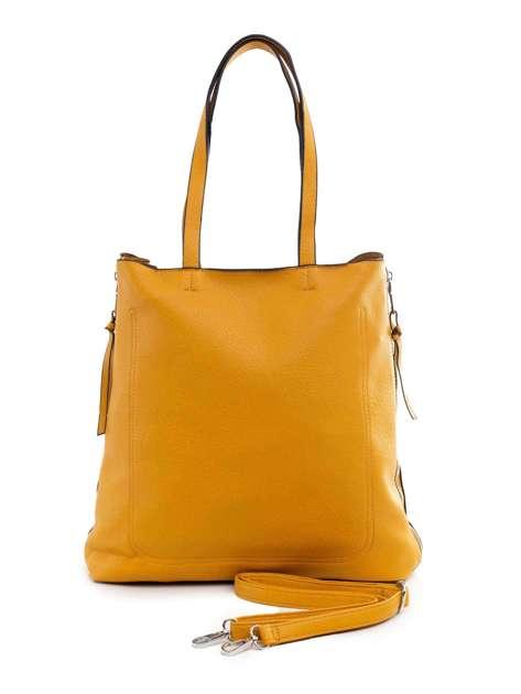 Ciemnożółta torba ze skóry ekologicznej