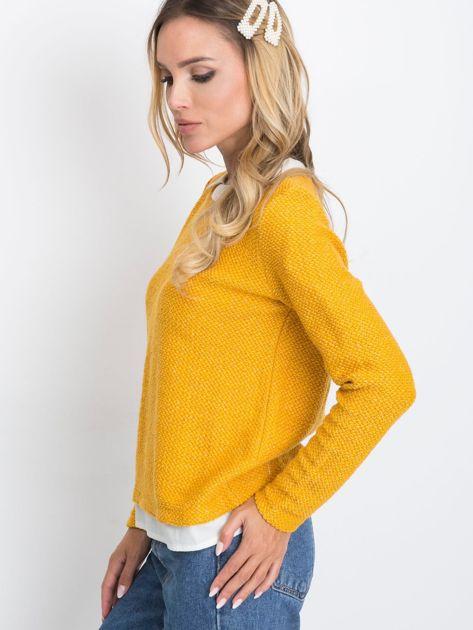 Ciemnożółty sweter Prestige                              zdj.                              3