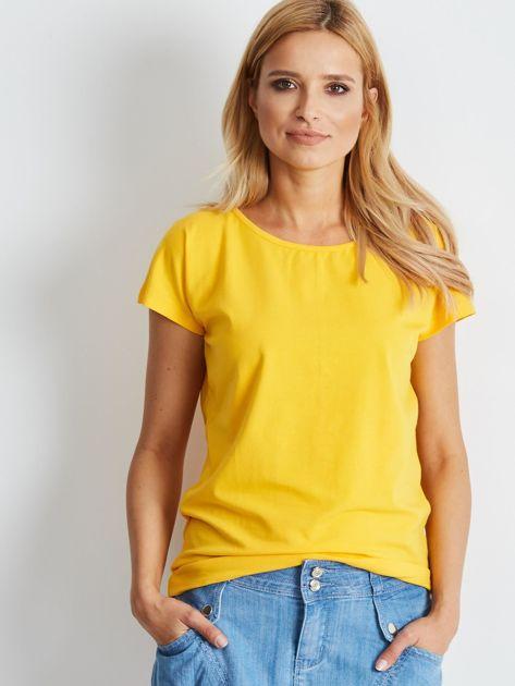Ciemnożółty t-shirt Circle                              zdj.                              1
