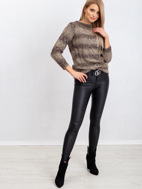 Ciemny khaki sweter Amelia                              zdj.                              4