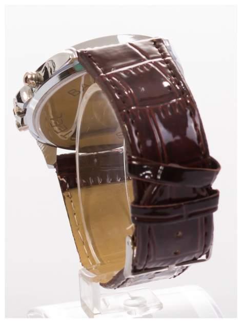 Cudny zegarek damski na brązowym pasku                                  zdj.                                  4