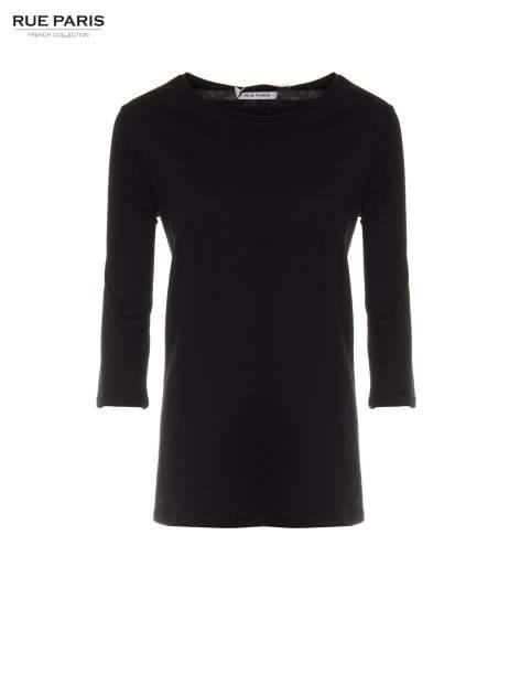 Czarna basicowa bluzka z długim rękawem                                  zdj.                                  5