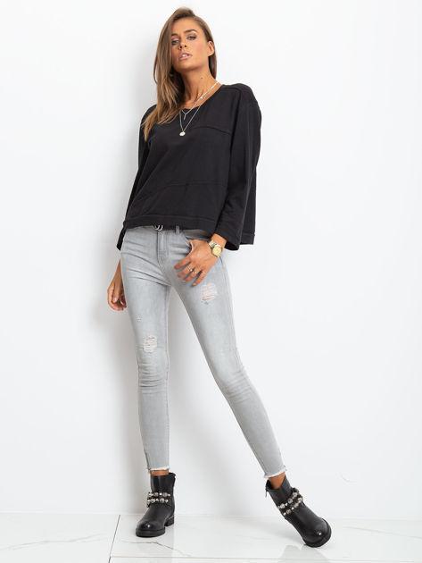 Czarna bawełniana bluza oversize                              zdj.                              4