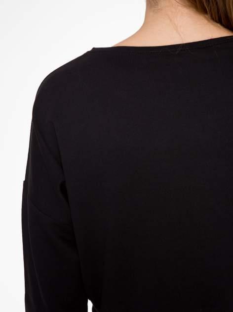 Czarna bluza cropped ze złotym napisem SELFIE                                  zdj.                                  6