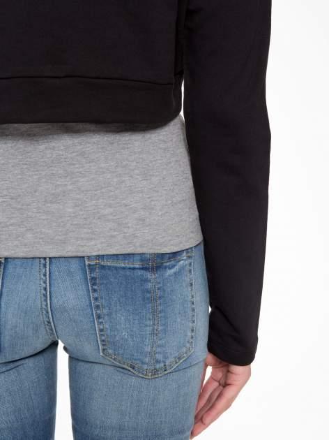 Czarna bluza cropped ze złotym napisem SELFIE                                  zdj.                                  8