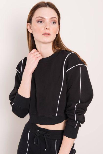 Czarna bluza damska BSL