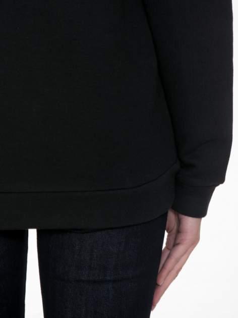 Czarna bluza kangur z kapturem i nadrukiem FÉLINE MEOW                                  zdj.                                  8
