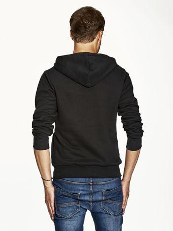 Czarna bluza męska z kapturem z amerykańskimi motywami                              zdj.                              2