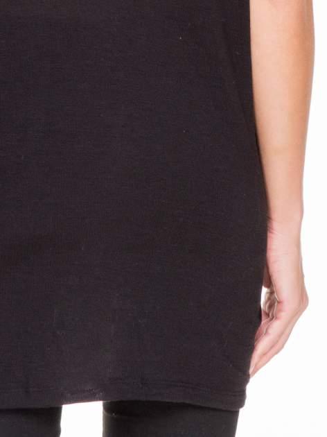 Czarna bluza oversize z dekoltem typu pajęczyna                                  zdj.                                  7