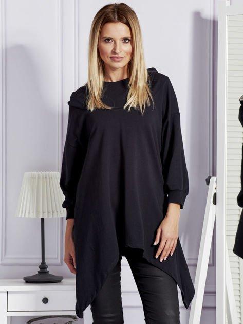 Czarna bluza oversize z kapturem                                  zdj.                                  1