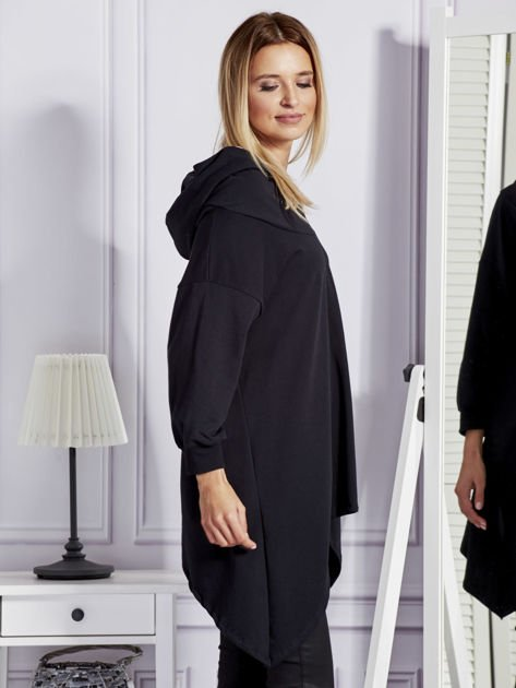 Czarna bluza oversize z kapturem                              zdj.                              5