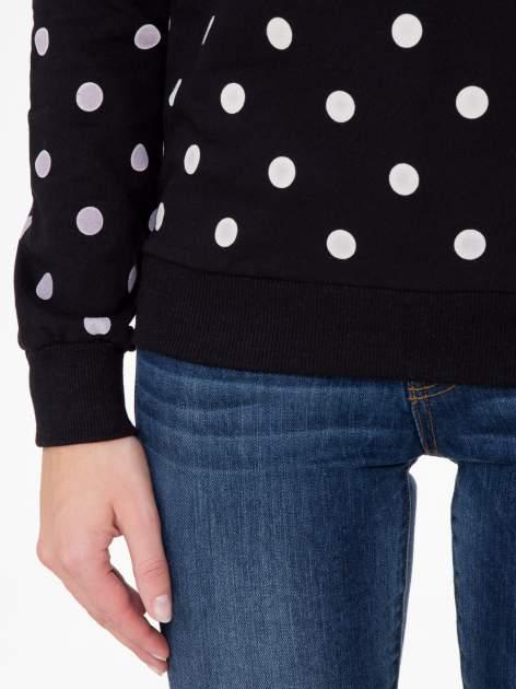 Czarna bluza w grochy z napisem JUST FRIEND                                  zdj.                                  6