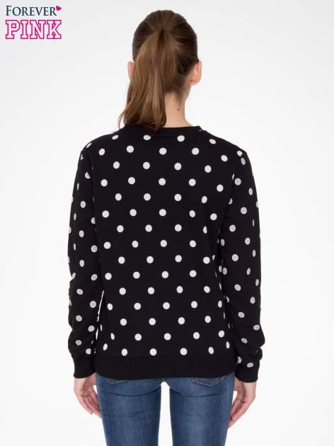Czarna bluza w grochy z napisem JUST FRIEND                                  zdj.                                  4