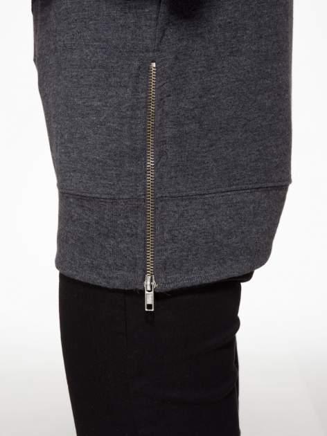 Czarna bluza z aplikacją tygrysa z cekinów                                  zdj.                                  6