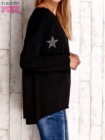 Czarna bluza z błyszczącymi gwiazdkami                                  zdj.                                  3