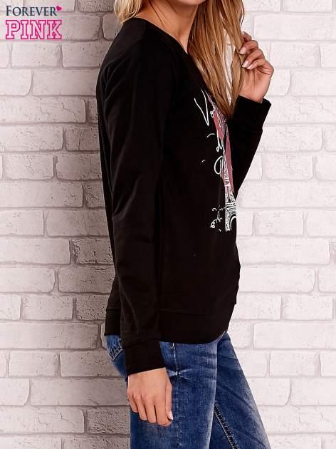 Czarna bluza z motywem paryskim                                  zdj.                                  3