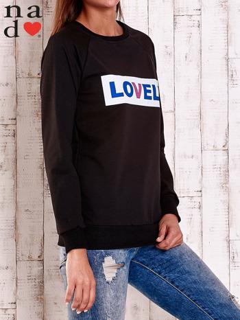 Czarna bluza z napisem LOVELY                                  zdj.                                  3
