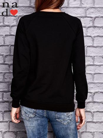 Czarna bluza z napisem NIC NIE MUSZĘ                                   zdj.                                  4