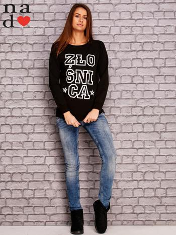 Czarna bluza z napisem ZŁOŚNICA                                  zdj.                                  2