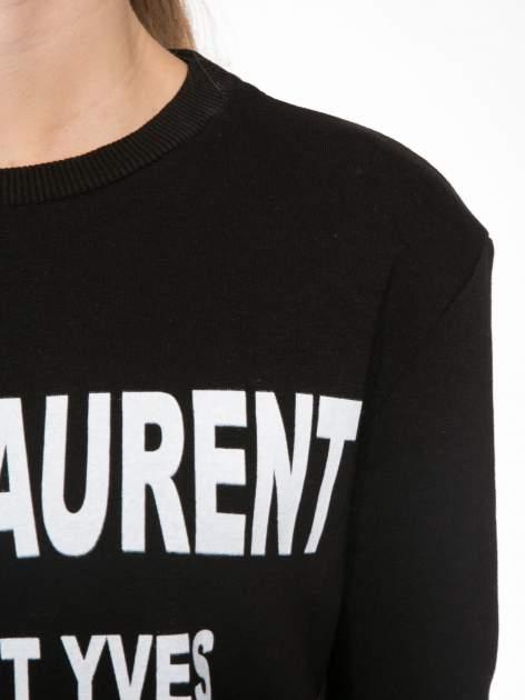 Czarna bluza z narukiem AIN'T LAURENT WITHOUT YVES                                  zdj.                                  5