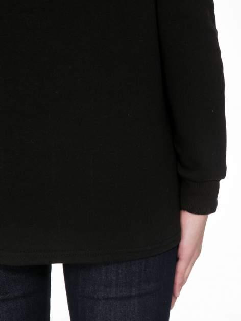 Czarna bluza z narukiem AIN'T LAURENT WITHOUT YVES                                  zdj.                                  8