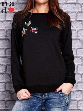 Czarna bluza z naszywkami                                  zdj.                                  1