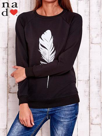 Czarna bluza z piórkiem                                  zdj.                                  2