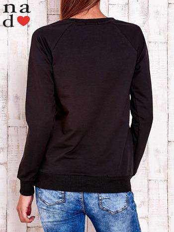 Czarna bluza z wzorem serca                                  zdj.                                  4
