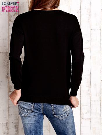 Czarna bluza ze srebrnym napisem                                  zdj.                                  4