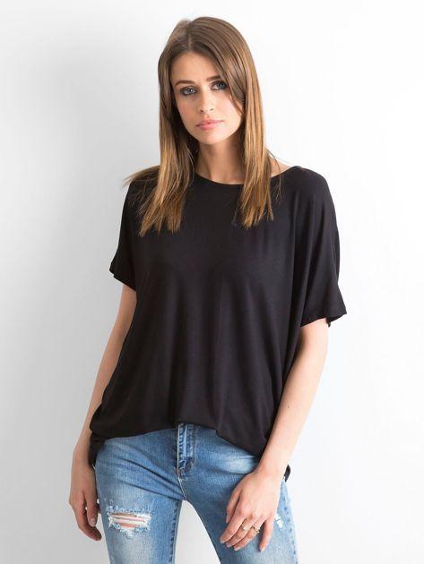 Czarna bluzka Oversize                              zdj.                              1
