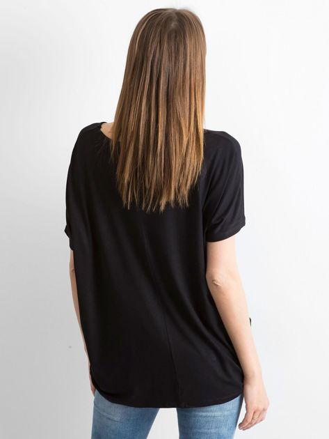 Czarna bluzka Oversize                              zdj.                              2