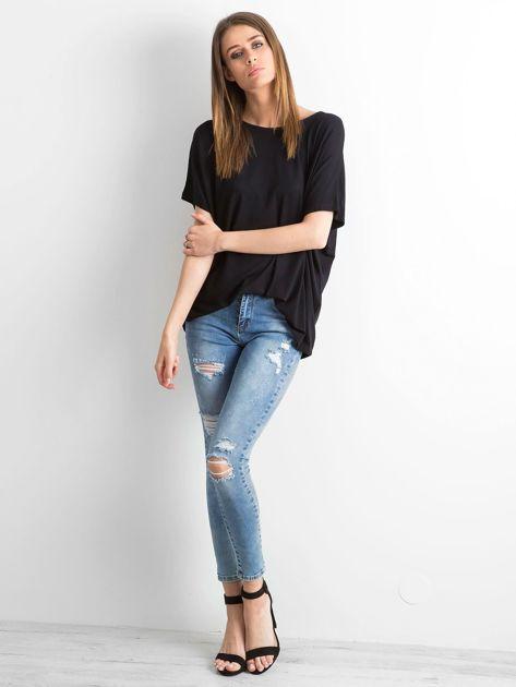Czarna bluzka Oversize                              zdj.                              4