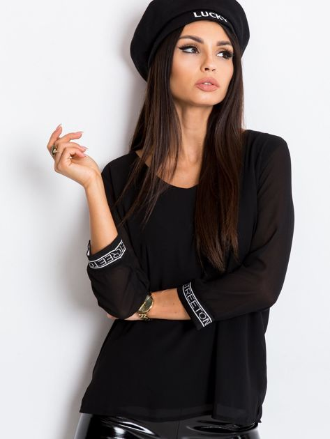 Czarna bluzka Tamara                              zdj.                              1