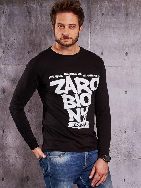 Czarna bluzka męska ZAROBIONY JESTEM                              zdj.                              5