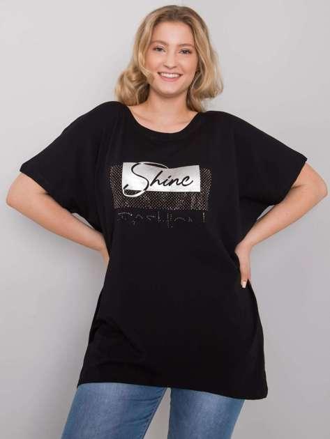 Czarna bluzka plus size Lenora