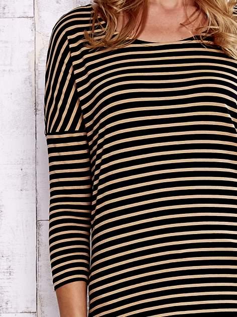 Czarna bluzka w drobne paski                                  zdj.                                  6