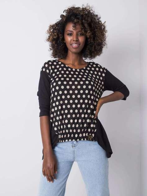 Czarna bluzka w groszki Sahana RUE PARIS