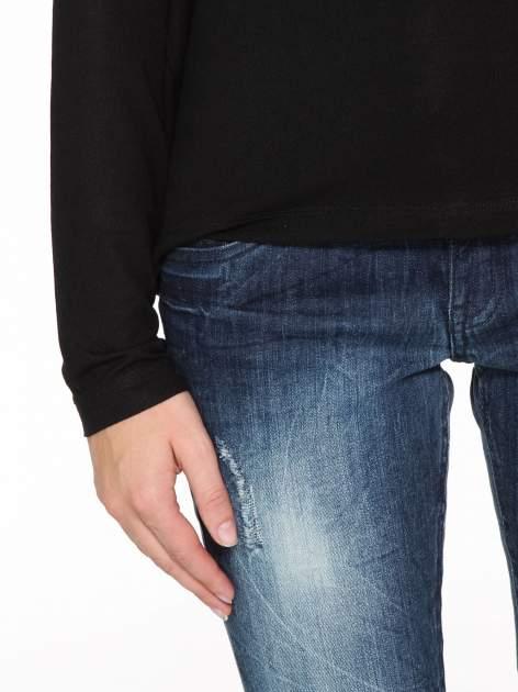 Czarna bluzka z dekoltem cut out                                  zdj.                                  6