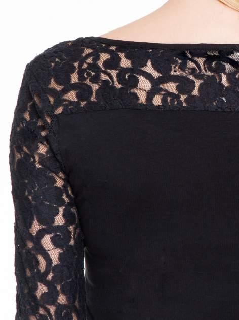 Czarna bluzka z koronkowymi rękawami                                  zdj.                                  7