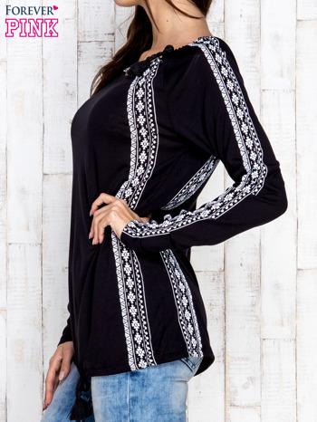 Czarna bluzka z motywami azteckimi i chwostami                                  zdj.                                  3