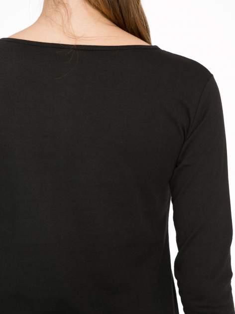 Czarna bluzka z nadrukiem Audrey Hepburn                                  zdj.                                  9