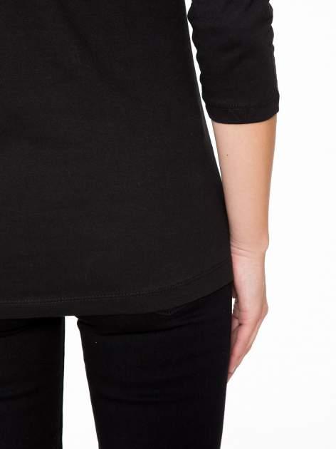 Czarna bluzka z nadrukiem kotów                                  zdj.                                  11