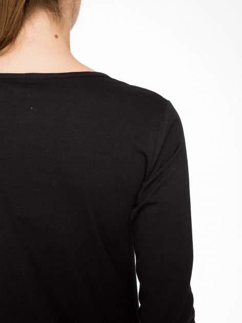 Czarna bluzka z nadrukiem kotów                                  zdj.                                  10
